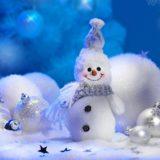 かわいい雪だるま白