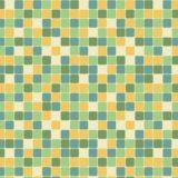 模様四角形青緑黄