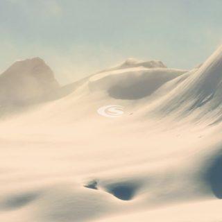 風景雪山の iPhone4s 壁紙