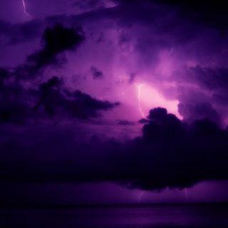 風景空紫の iPhone4s 壁紙