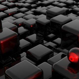 クールブロック黒の iPhone4s 壁紙