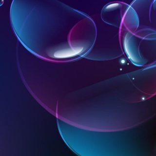 模様青紫の iPhone4s 壁紙
