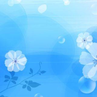 模様花青の iPhone4s 壁紙