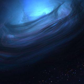 宇宙青の iPhone4s 壁紙
