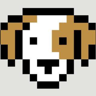 動物犬絵の iPhone4s 壁紙