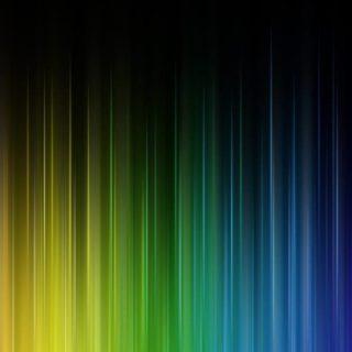 模様黄緑青の iPhone4s 壁紙
