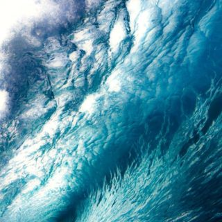 風景波青の iPhone4s 壁紙
