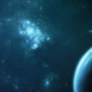 宇宙緑の iPhone4s 壁紙
