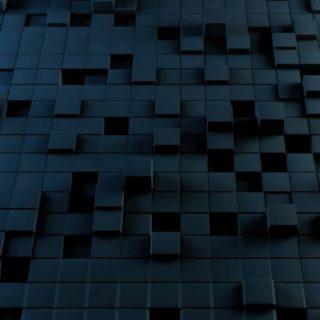 模様ブロック黒の iPhone4s 壁紙