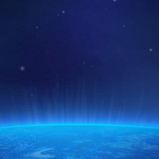 宇宙地球青の iPhone4s 壁紙