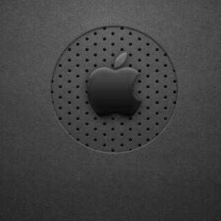Apple黒の iPhone4s 壁紙