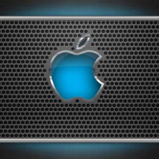 Apple銀青の iPhone4s 壁紙