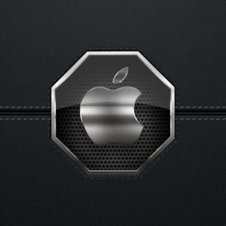 Apple黒銀の iPhone4s 壁紙