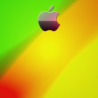 Apple橙黄緑の iPhone4s 壁紙
