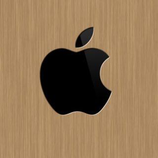 Apple木目の iPhone4s 壁紙