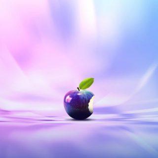 Apple紫の iPhone4s 壁紙