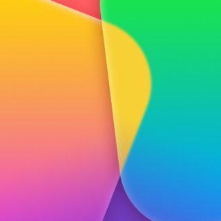 Apple緑黄色紫赤の iPhone4s 壁紙