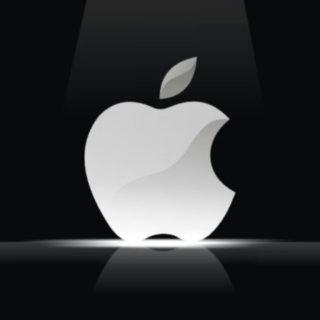 Apple黒白の iPhone4s 壁紙