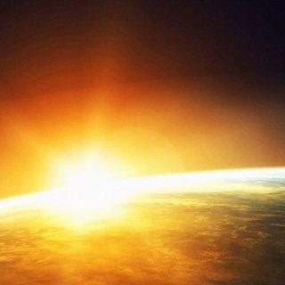 宇宙太陽の iPhone4s 壁紙