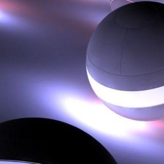 クール球体黒の iPhone4s 壁紙