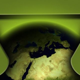 ロゴアンドロイド地球の iPhone4s 壁紙