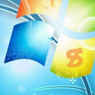ロゴWindowsの iPhone4s 壁紙
