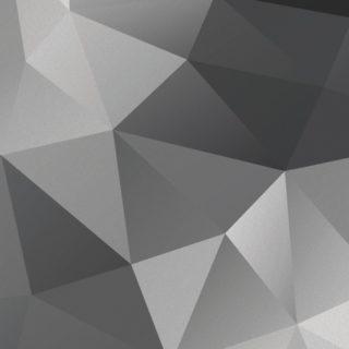 模様黒灰の iPhone4s 壁紙