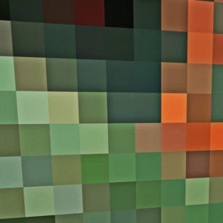 模様緑橙の iPhone4s 壁紙