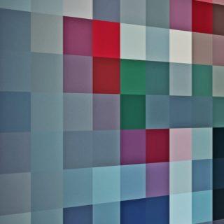 模様青灰の iPhone4s 壁紙
