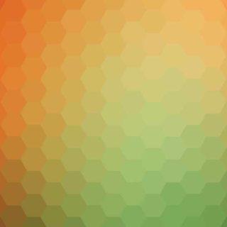 模様橙黄緑の iPhone4s 壁紙