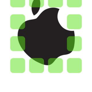 棚apple緑クールの iPhone4s 壁紙
