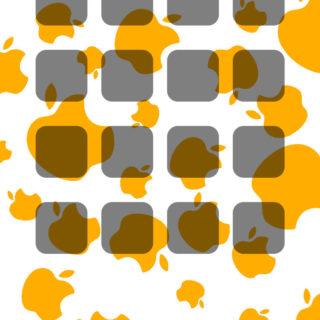 棚appleクール橙の iPhone4s 壁紙
