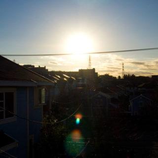 風景建物太陽空の iPhone4s 壁紙