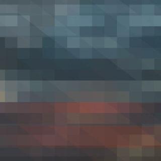 模様黒赤紺の iPhone4s 壁紙