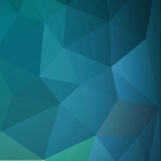 模様青紺緑の iPhone4s 壁紙