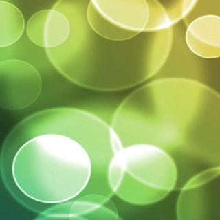 模様緑黄水玉クールの iPhone4s 壁紙