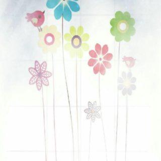 花 小鳥の iPhone5s / iPhone5c / iPhone5 壁紙