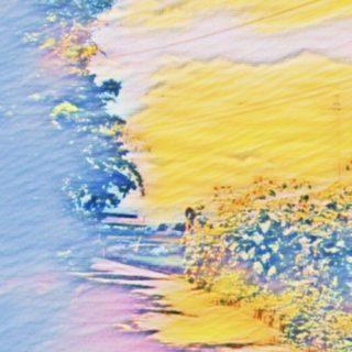 波 カラフルの iPhone5s / iPhone5c / iPhone5 壁紙