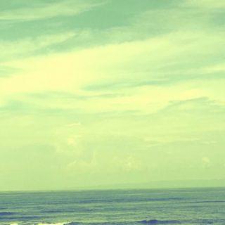 海 空の iPhone5s / iPhone5c / iPhone5 壁紙