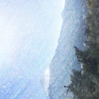 富士山 スケッチの iPhone5s / iPhone5c / iPhone5 壁紙