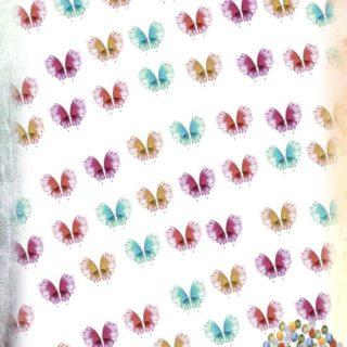 チョウチョ カラフルの iPhone5s / iPhone5c / iPhone5 壁紙