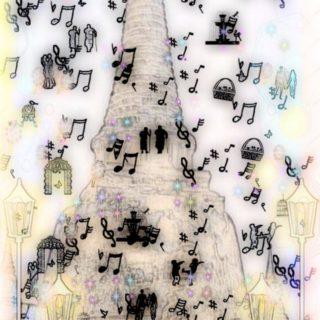 遺跡 音符の iPhone5s / iPhone5c / iPhone5 壁紙