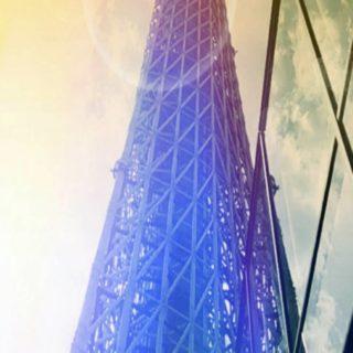 タワー 鉄塔の iPhone5s / iPhone5c / iPhone5 壁紙