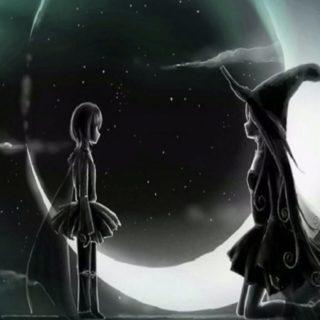 魔女 月の iPhone5s / iPhone5c / iPhone5 壁紙