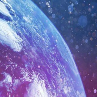 地球 宇宙の iPhone5s / iPhone5c / iPhone5 壁紙