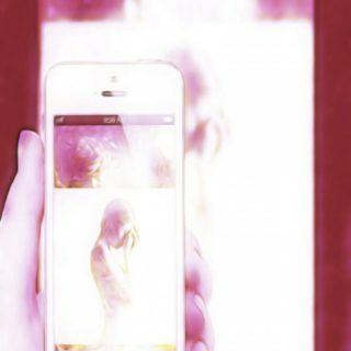 スマホ ピンクの iPhone5s / iPhone5c / iPhone5 壁紙