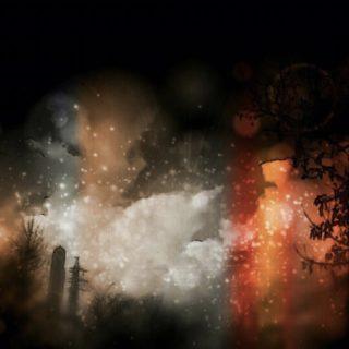 夜景 煙の iPhone5s / iPhone5c / iPhone5 壁紙
