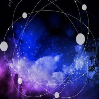 夜景 円の iPhone5s / iPhone5c / iPhone5 壁紙