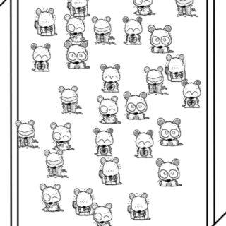 ねずみ イラストの iPhone5s / iPhone5c / iPhone5 壁紙