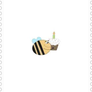 ハチ ケーキの iPhone5s / iPhone5c / iPhone5 壁紙